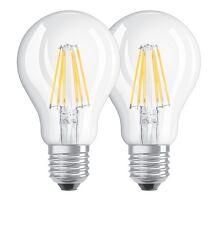 DOPPELPACK - Osram LED BASE A60 E27 Retrofit Filament 7W 2700K 806 Lumen wie 60W