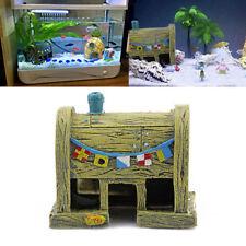 Aquarium Krusty Krab House Ornament Fish Tank Decoration Bikini Bottom SpongeBob