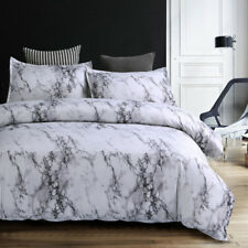 Marble Quilt Doona Duvet Covers Set Double Queen King Size Bedding Pillowcases