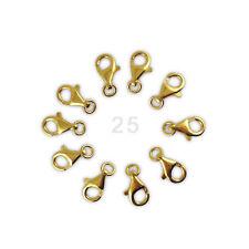 Plegable-brisuren cerrados ohrhaken acero inoxidable dorado nuevo