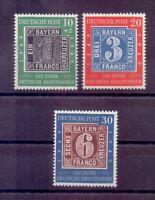 Bund 1949 - Tag der Briefmarke - MiNr 113/115 postfrisch - Michel 100,00 € (009)
