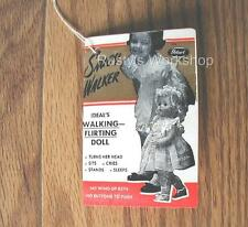 1950's Vintage Ideal SAUCY WALKER doll WRIST hang TAG     (Reproduction)