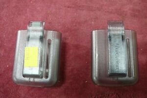 2 X UNICATION EX FIRE BRIGADE PAGER HOLDERS PAGER BELT CLIPS