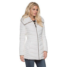Women's Marc NY Plus Chevron Quilted Down/Feather Jacket White 1X #NKTU3-1060