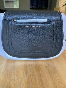NWT Marc Jacobs Empire City Mini Leather Messenger Crossbody Bag Black AUTHENTIC