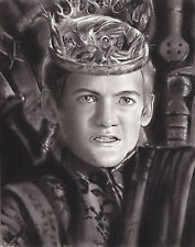 Game of Thrones Joffrey Baratheon ART CHARCOAL DRAWING 8X10""