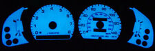 1992-1996 Toyota Camry Blue / Green Glow Gauges Overlay Faces 93 94 95 New