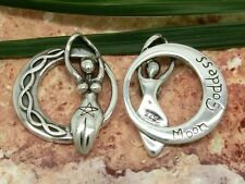 Keltische Mondgöttin 925 Silber Anhänger Kelten Knoten moon goddess