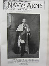 1902 PRINT ~ THE COLONEL OF THE ROYALS ~ GERMAN EMPEROR KAISER WILLIAM