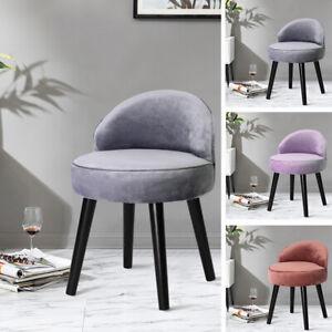 Vanity Velvet Dressing Stool Upholstered Makeup Chairs Low Backrest Kid Chair UK