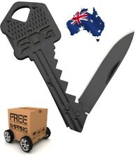 Key Knife Folding Stainless Keychain Keyring Pocket EDC Blade Multi Tool Black