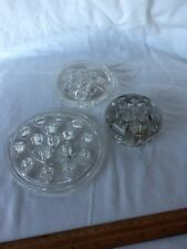 LOT OF 3 ANTIQUE GLASS FLOWER FROGS BEAUTIFUL PIECES IN VARIOUS SIZES NICE