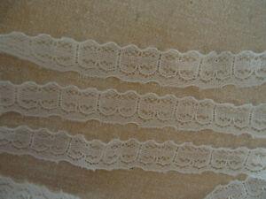 Ivory non-stretch simple panel design Lace Edging 2.5m / 5m / 10m