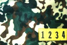 Polyester Chunky Fleece Camouflage Black Green Brown - 150cm Wide - New by Dcf