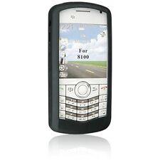 Silicone Skin Case for Blackberry Pearl 8100 - Black