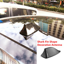 Black Universal Car Carbon Fiber Style Roof Shark Fin Shape Antenna Decoration