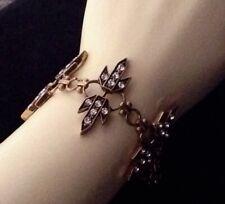 Aztec Art Deco Revival Bracelet Glamorous Wide Rhinestone Cuff