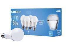 (4-pack) 60w Cree Led Light Bulb Dimmable A19 Daylight (5000K)