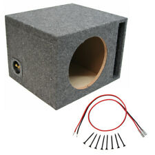 "Car Audio Single 12"" Vented Port Subwoofer Enclosure Bass Mdf Speaker Sub Box"