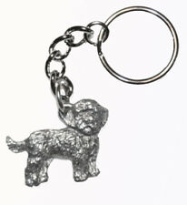 Cockapoo Dog Keychain Keyring Harris Pewter Made Usa Key Chain Ring