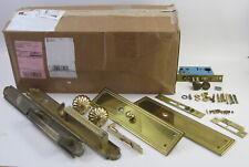 2 Baldwin Solid Brass Door Handle Kits for Double Door w lock/no key Complete