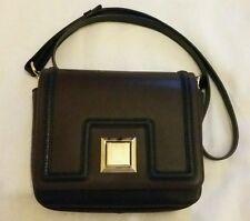 EMANUEL UNGARO Women's Cross Body Leather Bag Brown / Black