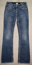 Silver Jeans Aiko Boot Cut Sz 25 x 33 Thick Stitching