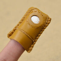 Finger-Fit Leather Thimble With Metal Tip DIY For Sewing Needlework Tailoring