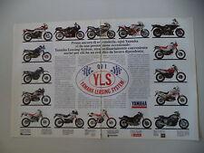 advertising Pubblicità 1990 YAMAHA TENERE' 660/DT 125/TDR/TT 350/XT 600/ XV 535