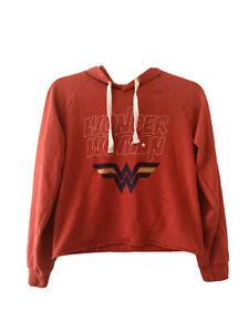 Wonder Woman Ladies Crop Hoodie Size 14