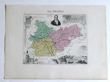 TARN et GARONNE carte géographique Vuillemin Atlas Migeon MONTAUBAN MOLIÈRES