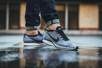 worn 1x MENS 9 NIKE FLYKNIT RACER SHOES OREO 1.0 COOKIES AND CREAM 526628 101