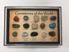 """""""Gemstones Of The World"""" Crystal Collection In Display Case"""