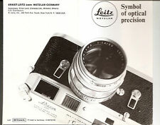 LEITZ LEICA Original 1969 Product Brochure List 100-12/amerik III/69/FZ