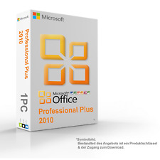 MS Microsoft Office 2010 Professional Plus Original 1PC 64/32-Bit - Vollversion