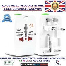 UNIVERSAL INTERNATIONAL TRAVEL WALL AC/DC ALL IN ONE PLUG ADAPTER AU US UK EU
