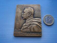 belle medaille   Exposition coloniale de Paris 1931, maréchal Lyautey, plaque