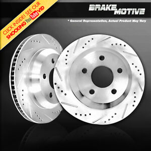 For 2018 2019 Jeep Wrangler JL Rear Drilled Slotted Brake Rotors