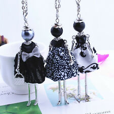 Chic Cloth Doll Girl Pendant Women  Long Chain Sweater Necklace Jewelry Gift 1PC