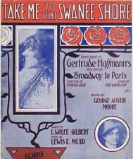 Take Me To That Swanee Shore, Gertrude Hoffman photo, 1912 Vintage Sheet Music