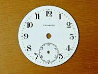 Esfera reloj de bolsillo esmalte  41mm pocket watch dial TRIANGLE