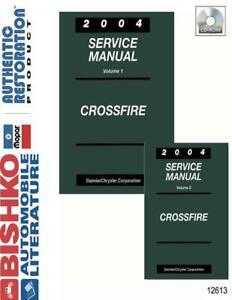 Bishko OEM Digital Repair Maintenance Shop Manual CD for Chrysler Crossfire 2004