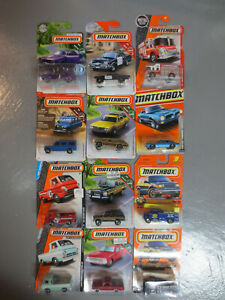 Matchbox Lot of 12 Assorted Vehicles  New on Cards