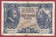 SPAIN. 25 Pesetas 1940 Serie: C ( BC / F )