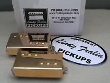 Lindy Fralin P-92 Humbucker Sized P90 Pickup set gold (8200 neck / 9200 bridge)