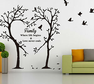 Large Family Love Tree Wall Art Tree Sticker DIY Wall Sticker Decal HIGH QUALITY
