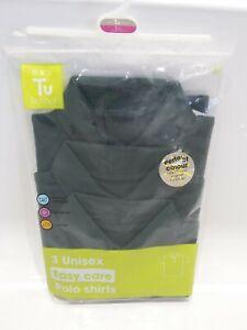 TU School 3 Green Unisex Polo Shirts UK 5 Yrs - Height 110cm -chest 59cm