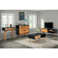 vidaXL Solid Acacia Wood TV Cabinet Black Brown Home Furniture Multi Models