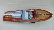"""Lot Of 2 Models - Riva Aquarama 20"""" Wood Model Boat L50 Quality Home Decor"""