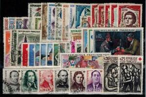 timbres France n° 1281/1324 oblitérés année 1961 complète